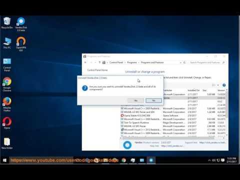 Uninstall Yandex Disk 2.0 on Windows 10