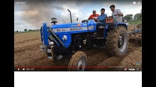 Sonalika DI-35 tractor best performance with 2 harrow in Jhinjar competition