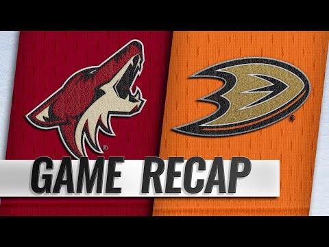 Schmaltz scores in OT to lift Coyotes past Ducks, 5-4