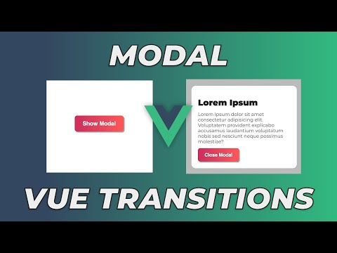 How to Make a Popup Modal with Vue Transitions | A VueJS Basics