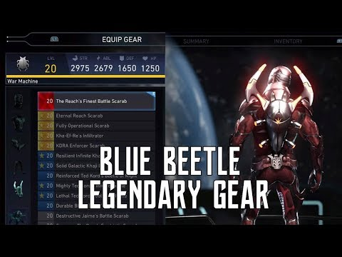 FIRST EVER BLUE BEETLE LEGENDARY GEAR SHOWCASE | INJUSTICE 2