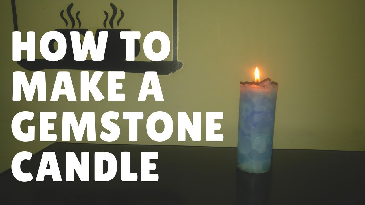 How to Make a Gemstone Pillar Candle