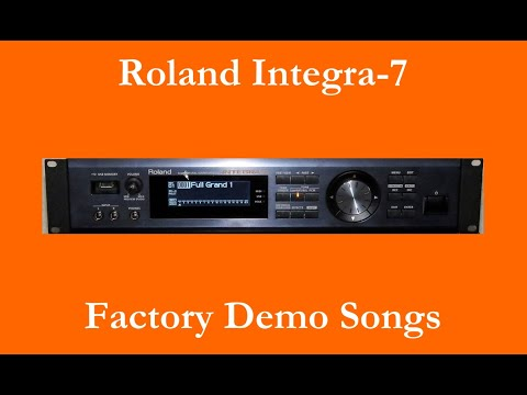 Roland Integra-7 - Démos internes - Factory Demo Songs