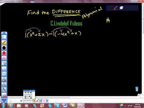 Adding and Subtracting Polynomials - Quiz Flashcards | Quizlet