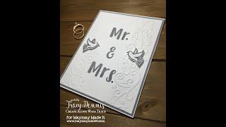 Wedding Card using Mirror Image Stamping