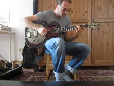 Resonator fingerstyle guitar by Jan Haasler, Original tune: