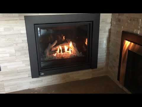 Enviro q2 with driftwood. Installed in available for viewing at safe home fireplace in strathroy