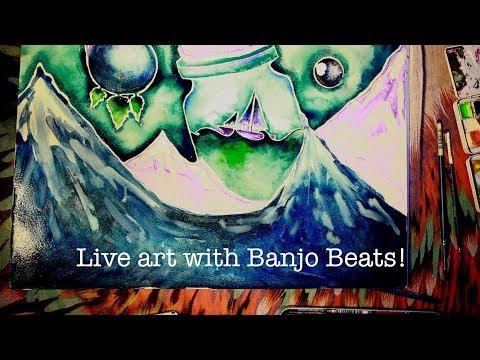 Banjo Beats Live Art