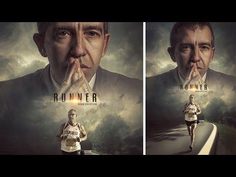 Photoshop Tutorial   Movie Poster   Manipulation Photo Effects Runner