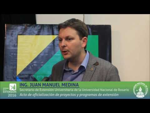 Entrevista a Juan Manuel Medina Secretario de Extensión UNR