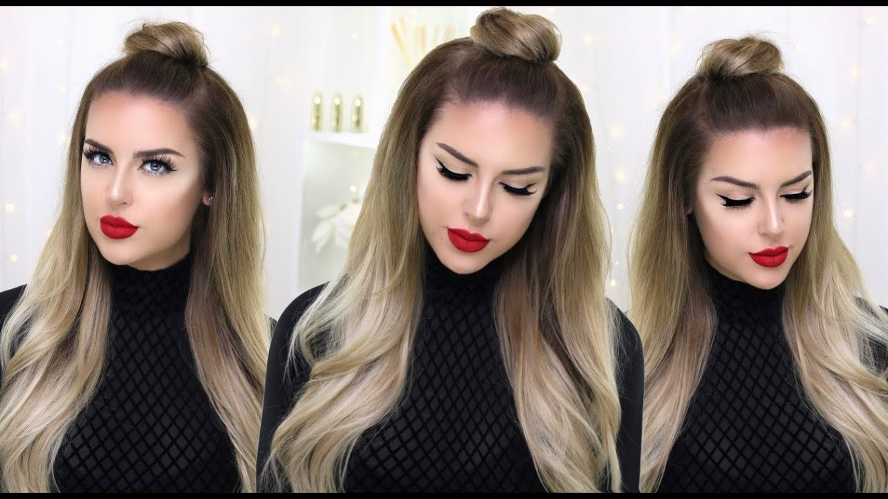 How to quick half up top knot youtube pmusecretfo Choice Image