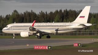 Aeroflot Retro Livery A320-200(WL) Landing and Take Off at Oslo Gardermoen Airport