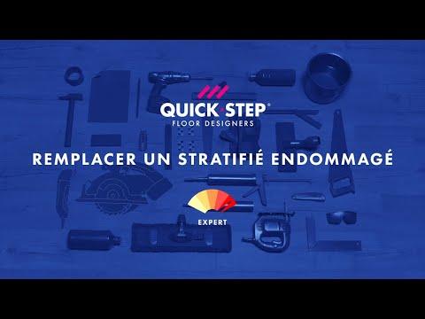 remplacement d 39 une lame de stratifi endommag e tutoriel quick step youtube. Black Bedroom Furniture Sets. Home Design Ideas