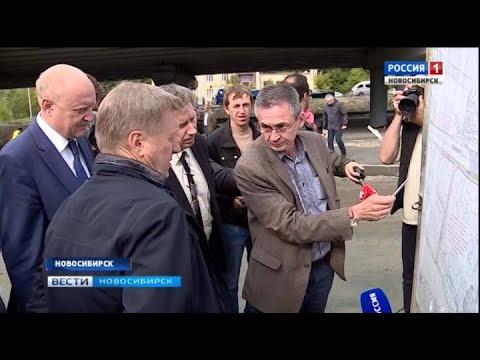 Новосибирский мэр проверил ход работ по строительству регионального центра волейбола
