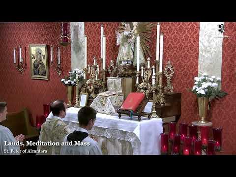 Lauds, Meditation & Holy Mass: 9 AM EASTERN TIME (ET)