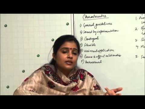 Nature and Significance of Principles of Management Class XII Bussiness Studies by  Ruby Singh