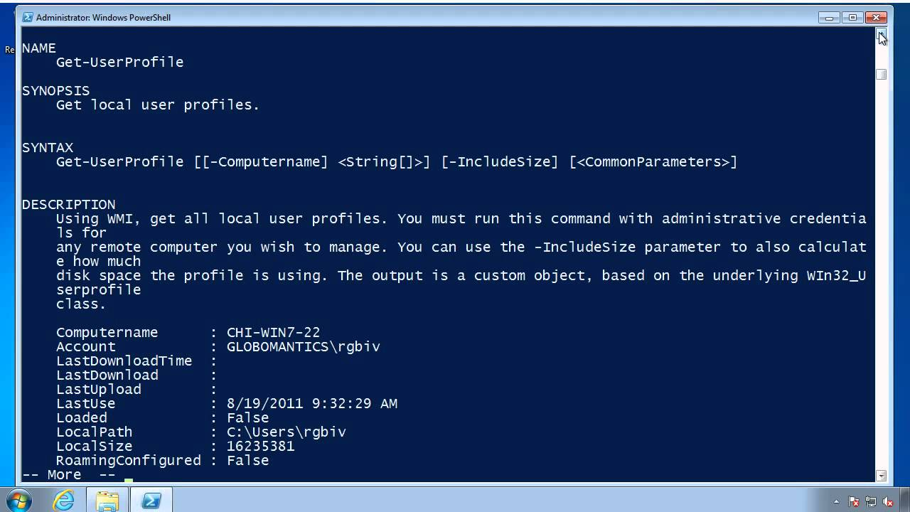 Use PowerShell & WMI to Manage User Profiles