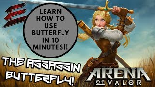 Butterfly gameplay in AOV (PH)! Tips/Basic guide/Strategy #AOVOMG