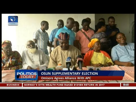 Omisore Declares Support For APC In Osun Re-run Election  | Politics Today |