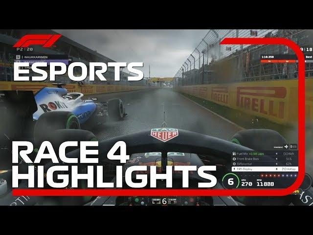 F1 Esports Pro Series 2019: Race Four Highlights