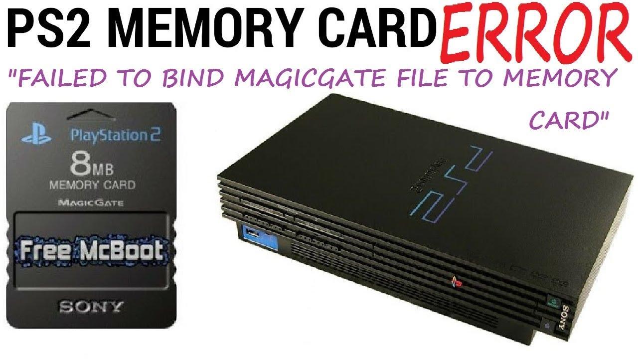 [PS2] Failed to bind magicgate file to memory card - FREE MC BOOT ERROR CARD