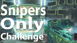 Black Ops 3 Zombies: Snipers Only Challenge - The Giant (Call of Duty: BO3 Zombies)