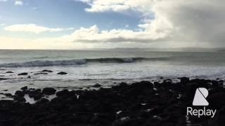 Viewpoint of Manu Bay after Surf - Raglan - NZ
