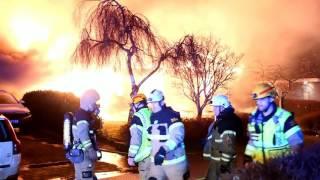 Villabrand i Kvarnby på nyårsafton
