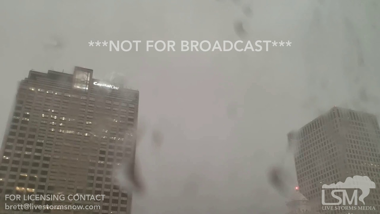 06-17-19 New Orleans, LA - Two Lightning Strikes on Two Skyscrapers