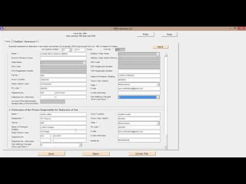 How to file E TDS Return Step 2