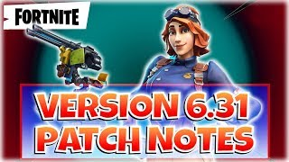 V.6.31 NOTES PATCH - FORTNITE StW - France Pve