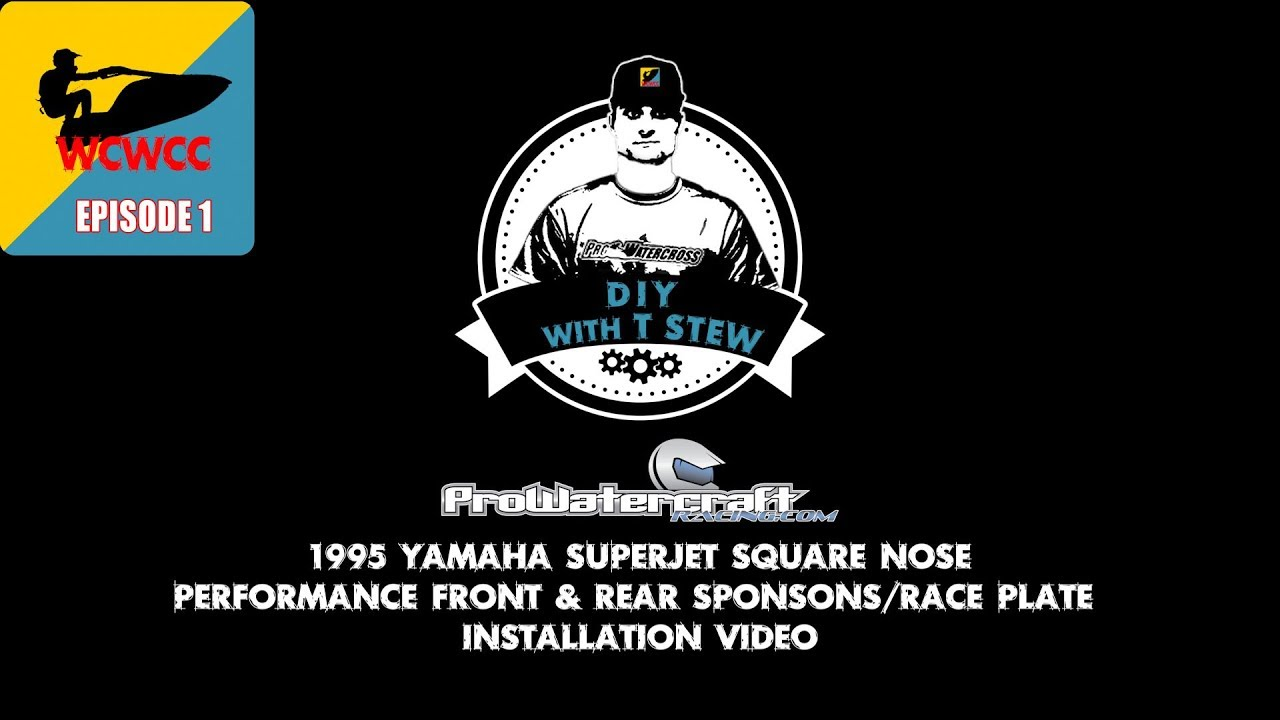 YAMAHA Superjet Square Nose Front & Rear Sponsons Race Plate Install
