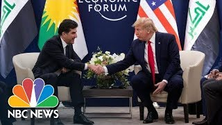 Watch live: Trump meets with Kurdistan president at World Economic Forum