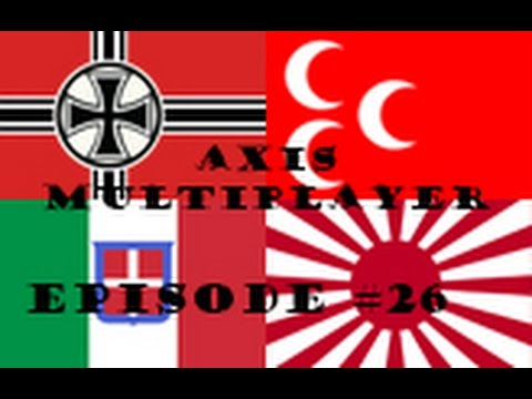 Hearts of Iron 4 Axis Multiplayer Episode 26 - Italian Losses