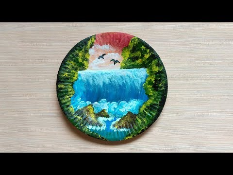 FINGER PAINTING ON PAPER PLATE - SPEED PAINTING