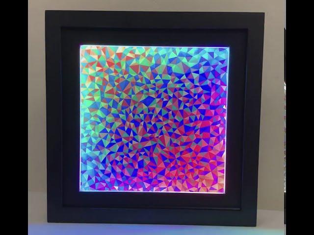 LED Geode Art (version 1) with Color-Shifting LED Frame