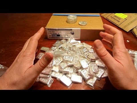 Unboxing a Bunch of Kookaburra's and More Poured Silver Bars!