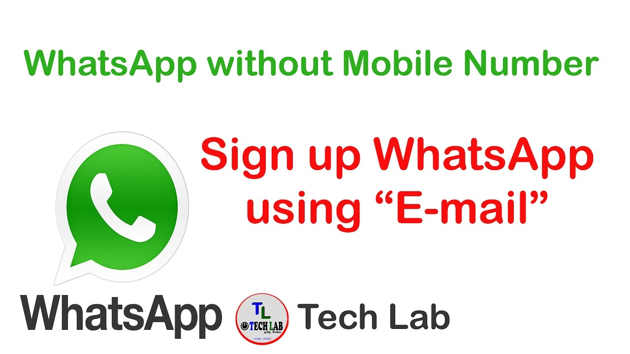 how to sign up whatsapp using email youtube