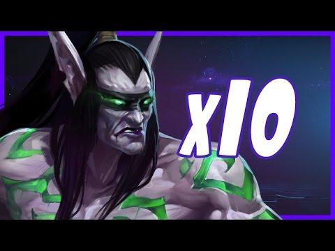 Illidan x10 BRAWL - HotS