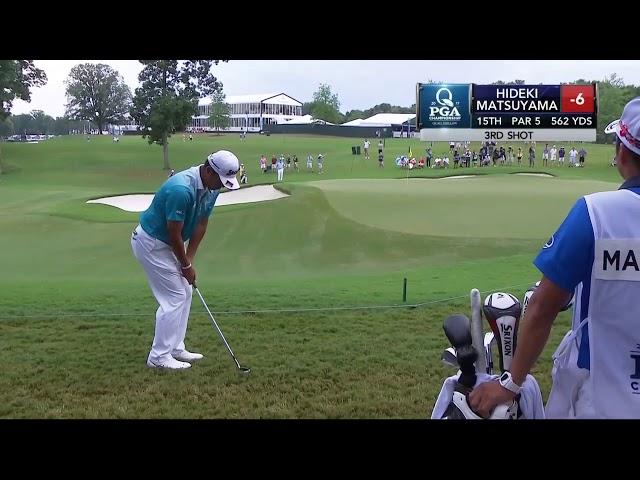 Hideki Matsuyama birdies four in a row at PGA Championship