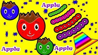Little Baby Fun Learning Colors Shapes for Children Apple Fruit Wooden Toys Kids Video Baby Monster