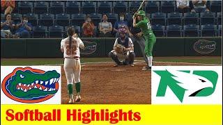 North Dakota vs Florida Softball Game Highlights 3 17 2021