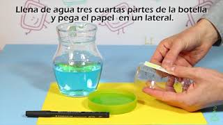 La botella barómetro. Experimentos (Divertiaula). How to make a Weather Barometer.