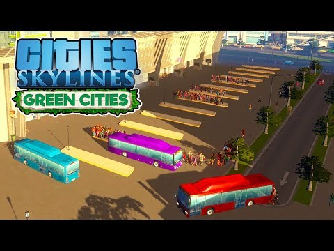 Bus Station Revamp! - Cities Skylines Green Cities Gameplay