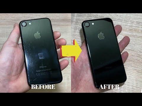 IPhone 7 Jet Black убираем царапины