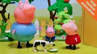 Свинка Пеппа и кошка. Мультик из игрушек Свинка Пеппа на русском