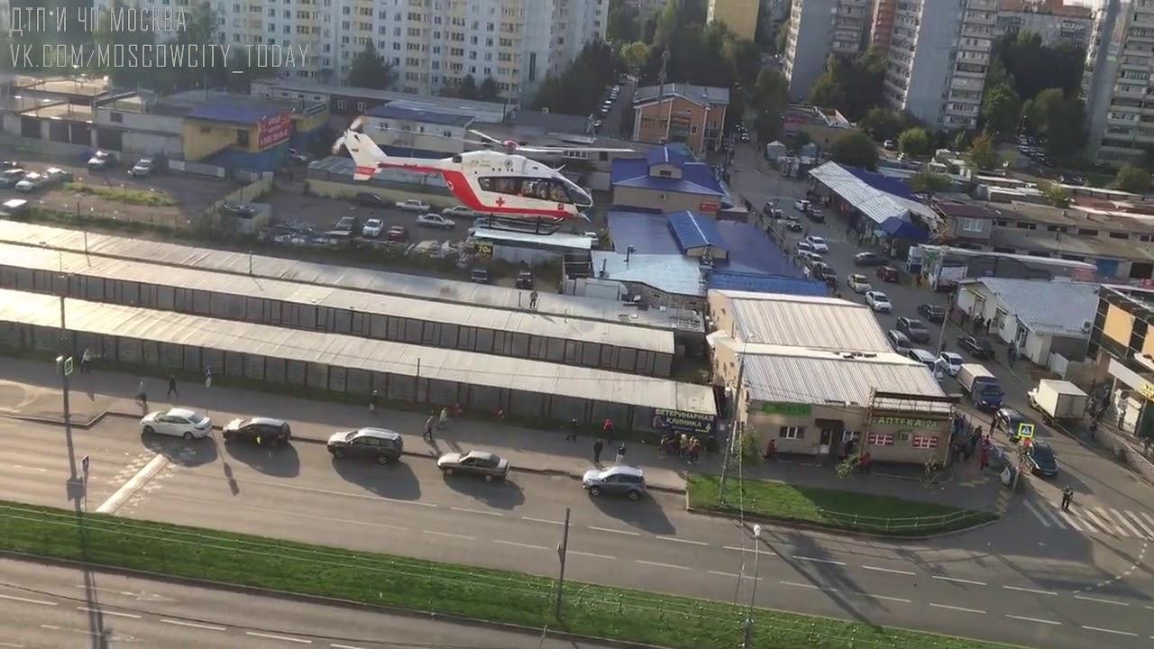 ДТП авария в Зеленограде бетономешалка и автобус