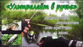 Ультралайт в ручье - вертушка, воблер, микроколебалка - ловля окуня и щуки летом