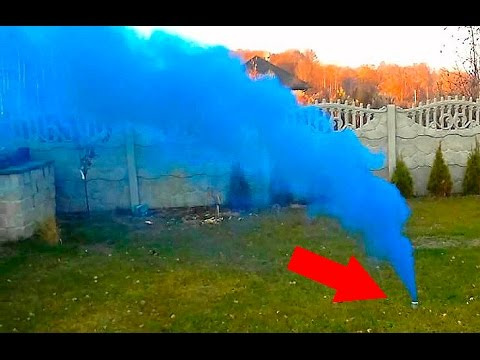 How to make a DIY BLUE smoke flare 🔴 Tutorial