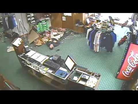 Man Falls Through Golf Shop Ceiling Youtube